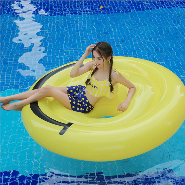 Inflatable Smile Face Emoji pool Float
