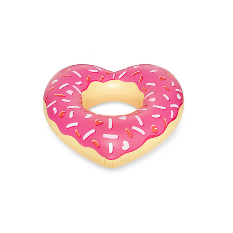 giant inflatable Heart shaped donut swim ring pool float