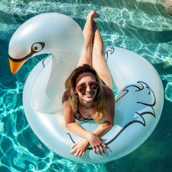 48 inches pool float inflatable swan swim ring for water games