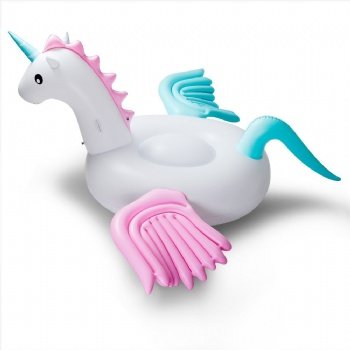Candy Pink and Blue giant inflatable pegasus pool float