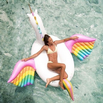 Giant inflatable Rainbow Pegasus float large Pegasus Swimming Pool Float