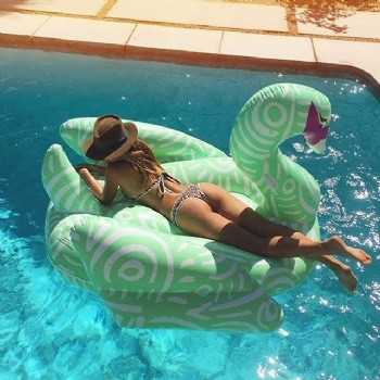 hot sell Giant Swan PVC Inflatable Flamingo pool float