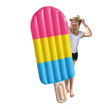 180cm Giant Rainbow Popsicle Air Lounger Ice lolly Inflatable Pool Float Icicle Swimming Ring For Adult Water Summer Toys