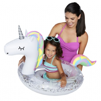 Inflatable Sparkles Unicorn Baby Seat kids water play pool toy