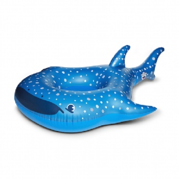 inflatable whale shark swim ring pool float