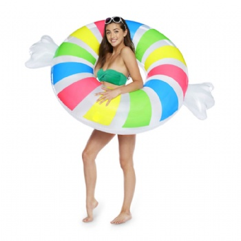 inflatable penny candy swim ring pool float