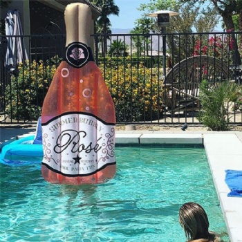 Giant inflatable Rose bottle pool float